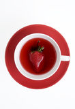 jordgubbetea arkivfoton