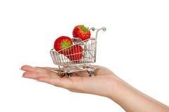 jordgubbetrolley Fotografering för Bildbyråer