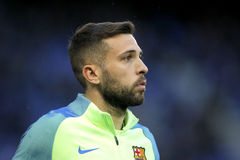 Jordi alba do FC Barcelona Imagem de Stock