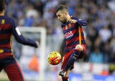 Jordi Alba of FC Barcelona Stock Photos