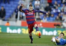 Jordi Alba of FC Barcelona Stock Image