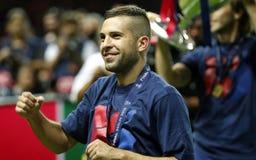 JORDI ALBA FC BARCELONE Royaltyfri Fotografi