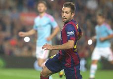 JORDI ALBA FC BARCELONE Royalty Free Stock Images