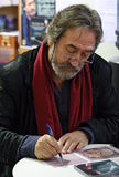 Jordi Savall in Paris. PARIS - MARCH 31: Jordi Savall, Spanish-Catalan viol player, conductor, composer and a Cesar and UNESCO award winner during the dedication Stock Images