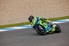 Jordi Torres pilot of MOTO2 in the CEV Royalty Free Stock Image