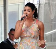 Jordin Sparks in Time Square Stock Images