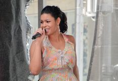 Jordin Sparks in Time Square Royalty Free Stock Photo