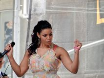 Jordin Sparks in Time Square Royalty Free Stock Photography