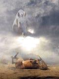 Jordiska och himla- hästar Royaltyfria Bilder