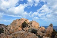 Jordiskt paradis i det medelhavs- Skärgård av Maddalena, Caprera ö Fotografering för Bildbyråer
