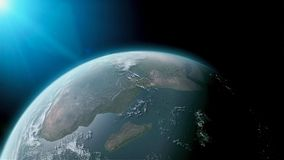 Jordjordklot som isoleras på svart bakgrund Beståndsdelar av denna avbildar möblerat av NASA stock illustrationer