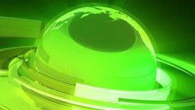 Jordjordklotanimering (den Glass världen 3D) stock illustrationer