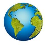 jordjordklotmodell royaltyfri illustrationer