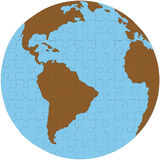 jordjordklotpussel Arkivfoto
