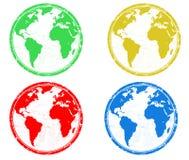 jordjordklotstämplar Fotografering för Bildbyråer