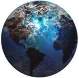 jordjordklotvärld Fotografering för Bildbyråer