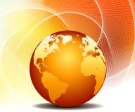 jordklotöversiktsvärld royaltyfri illustrationer