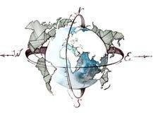 jordklot royaltyfri illustrationer
