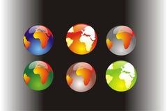 jordklot stock illustrationer