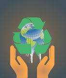 jordklot för begreppsjordmiljö vektor illustrationer