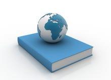 jordklot för blå bok royaltyfri illustrationer