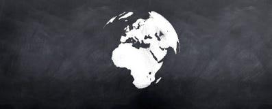 jordklot för blackboard 3d Royaltyfri Bild