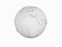 Jordklot för trådramvärld Arkivfoto