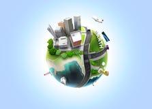 jordklot för vektor 3D Royaltyfria Bilder