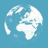 Jordklot för vektorvektorjord med den politiska översikten vektor illustrationer