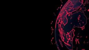 Jordklot f?r Digital jorddata - f?r tolkningsatelliter f?r abstrakt begrepp 3D starlink knyter kontakt anslutning v?rlden satelli vektor illustrationer
