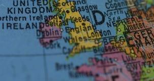 Jordklot med det Förenade kungariket landet stock video
