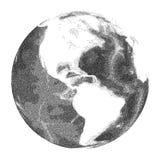 Jordklot med världshavlättnad Sikter av Amerika Royaltyfri Fotografi
