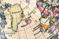Jordklot Nordeuropa royaltyfria bilder