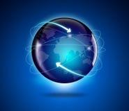 Jordklot och översikt av världen vektor illustrationer