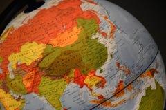 Jordklot Ryssland och Kina arkivbild