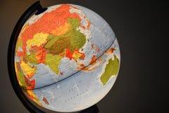 Jordklot Ryssland och Kina arkivfoton