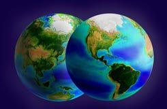 jordklot två Arkivfoto