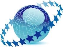 jordklotcirkelstjärnor Royaltyfri Foto