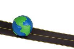 jordklothuvudvägplasticine Arkivbild