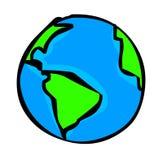 jordklotillustration Arkivbild