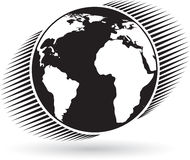 jordklotlogo stock illustrationer