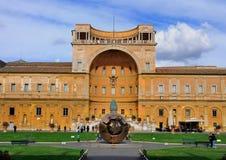 jordklotmuseum vatican arkivfoton