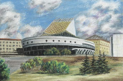 jordklotnovosibirsk russia theatre Arkivbild