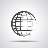 Jordklotplanetsymbol Arkivbild