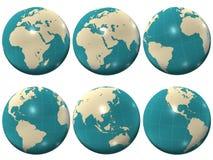 jordklotplast-värld Arkivfoto