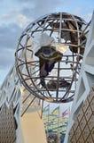 Jordklotskulptur i Sochi, rysk federation arkivfoto