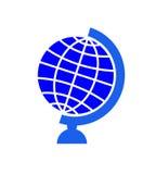 Jordklotsymbol royaltyfri illustrationer