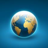 Jordklotsymbol av världen Arkivfoto
