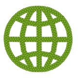Jordklottecknet som göras av kryddnejlikan för fyra Leaf stock illustrationer