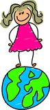 jordklotunge royaltyfri illustrationer